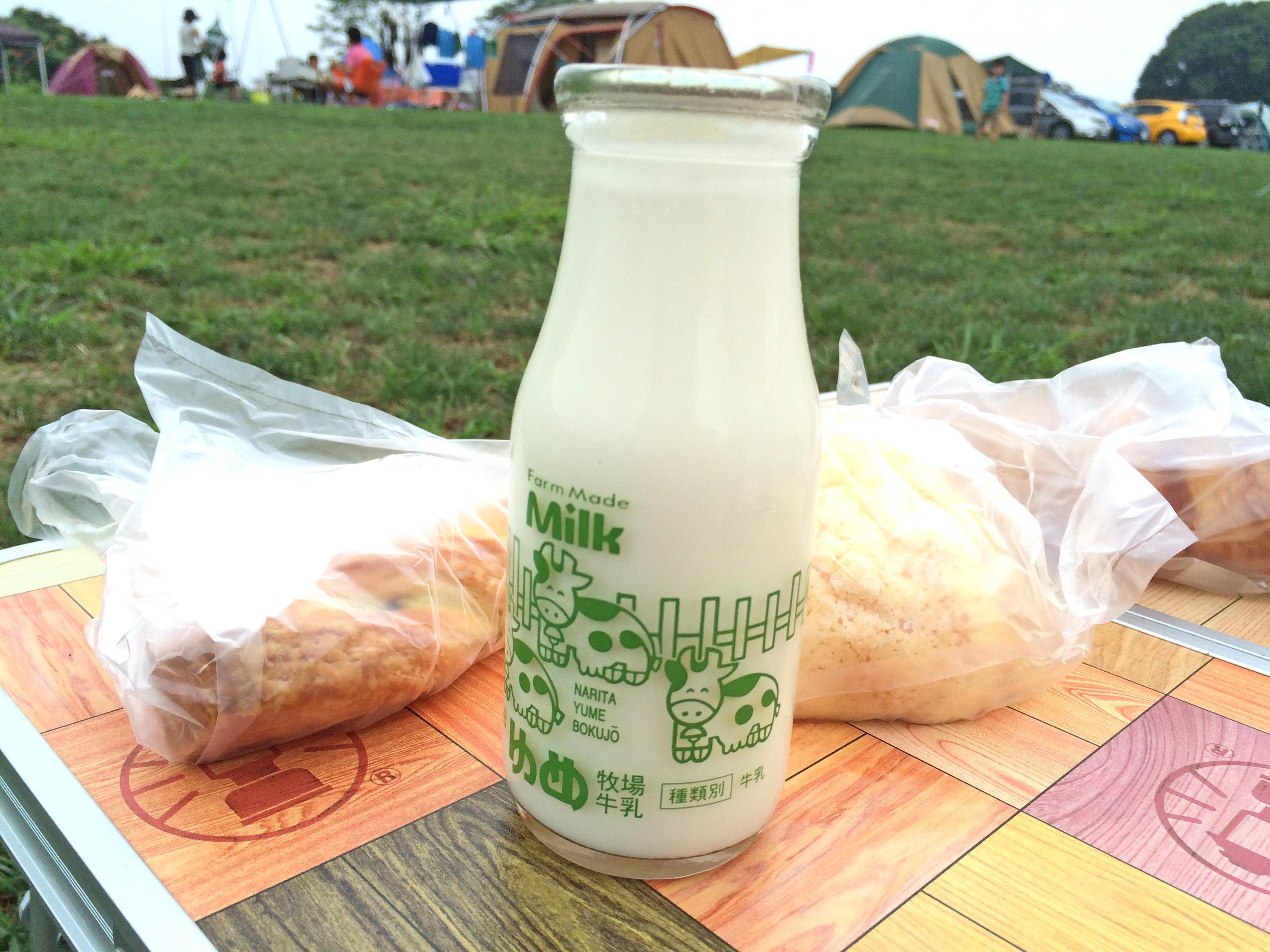 成田ゆめ牧場キャンプ場朝食
